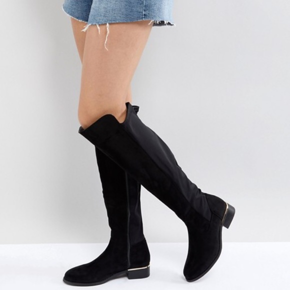 ASOS Shoes - Asos elastic back over knee boots size 8US